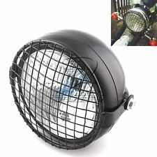 "6.5""  Universal Motorcycle Front Headlight + Metal Grill Cover Cafe Racer GN125"