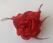 Floral Flower  Wedding  Rose Hair  Elastic Bobble Clip Brooch Bridesmaid
