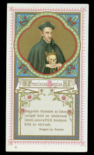 antico santino cromo-holy card S.FRANCESCO BORGIA