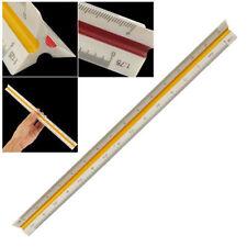 1:20 1:25 1:50 1:75 1:100 1:125 Plastic Triangular Scale Ruler Measurement New