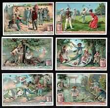 A Butterfly Chase Liebig Card Set 1904 Collector Net Picnic Insect Tennis Fishin