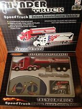 Thunder Truck Big Rig Semi Tanker Deluxe Remote Control Vechicle- Red Color