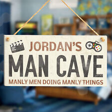 Cueva de hombre Sala de Juegos-Sala de Juegos Personalizados De Madera Signo De Regalo