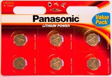 12 X Panasonic Cr2032 3v de litio moneda batería de 2032