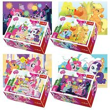 Trefl Mini 4 x 54 Pieces Kids Girls My Little Pony Birthday Jigsaw Puzzle NEW