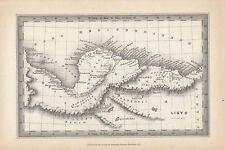 1847 ANCIENT MAP ~ LIBYA ~ SYRTICA CYRENAICA