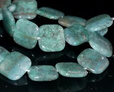 20MM APATITE GOLD RUTILE INCLUSIONS GEMSTONE GRADE A SQUARE 20MM LOOSE BEADS 8""