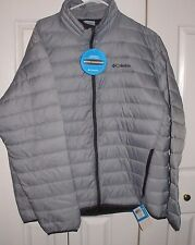 Columbia Elm Ridge Water Resistant Jacket Silver Men's Size XL NWT MSRP$160