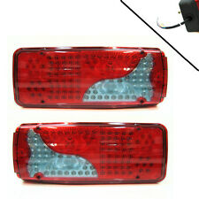 Led Rear Tail Lights Truck Lorry Trailer 24v Fits Daf Iveco Scania Volvo Man