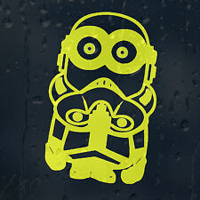 Minion Trooper Star Wars  Car Decal Vinyl Sticker For Window Bumper