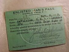 ORIGINAL PRE WWII 1933 US AIR CORPS PASS NICHOLS FIELD PHILIPPINES