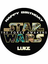 "Star Wars The Force 7.5"" Rice Paper Birthday Cake Topper"