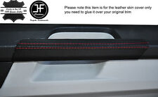 RED STITCH 2X DOOR HANDLE TRIM LEATHER COVERS FITS VW T6 TRANSPORTER 15-17
