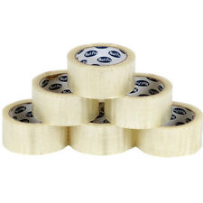 Pack Of 6x Mail Pro Super Clear Packing Tape 48mm x 66m Rolls Parcel Wide Strong
