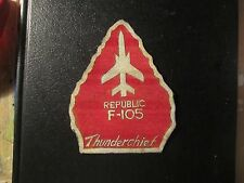 USAF F-105 THUNDERCHIEF FLIGHT JACKET RED PATCH LEATHER SQUADRON
