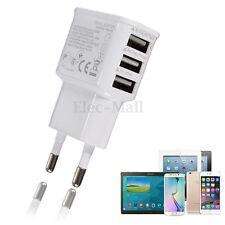 EU 3 Port USB Mural Chargeur Voyage Adaptateur Secteur Pr iPhone 6 6S 5S Samsung