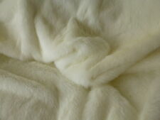 ONE METRE : White Faux-Fur Fabric - Soft  - inc 1st class  post