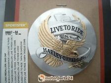 Harley Davidson live to ride gold Tankdeckel Medallion Sportster XL 99667-04
