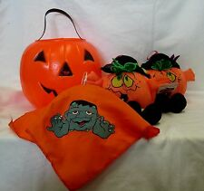 Decorative Halloween Treat Bucket Stuffed Pumpkins Hanging Monster Seasonal Used