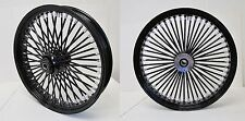 DNA MAMMOTH FAT 52 SPOKE 21x3.5 / 18x5.5 BLACK WHEELS & SPOKES HARLEY
