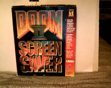 "Doom II Screen Saver ! Box +(4) 3 1/2"" floppies and instruction manual!! Sealed"