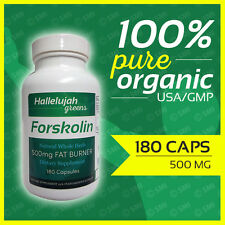 FORSKOLIN Coleus Forskohlii Weight Loss 20% Extract 500mg 180 Caps 3Month Supply