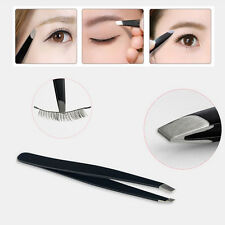 1PC Professional Stainless Steel Eyebrow Tweezers Hair Beauty Slanted Tweezer