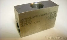 Used Autoclave Engineers ST6660 316 Stainless Steel Low Pressure Tee Fitting