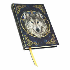 Wilde One Celtic Gray Wolf 5x7 Blank Notebook Book of Shadows Journal Diary