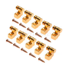 5 Pairs Guitar ROLLER style STRING TREES For Electric Guitar gold color