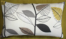Double Sided Retro Scandinavian Cushion Cover AUTUMN LEAVES John Lewis Fabric