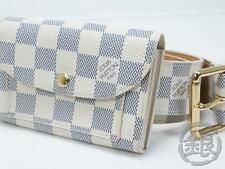 AUTH PRE-OWNED LOUIS VUITTON DAMIER AZUR CEINTURE POCHETTE BUM BAG M9835 #151094