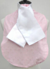 Pink Anglaise Cotton Show/Riding/Dressage/Hunting Stock Bib with White Stock