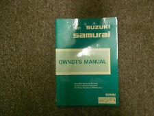 1991 SUZUKI SAMURAI Factory Owners Manual OEM FACTORY NEW SAMURAI OEM BOOK 91