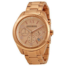 Armani Exchange Chronograph Rose Dial Rose Gold-plated Ladies Watch AX5501