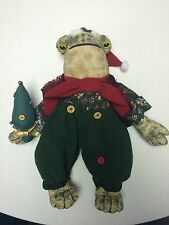 Avon 1996 Christmas Frog My Collection Singing Croaking