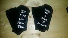 If you can read this/Bring me a glass of Prosecco socks Christmas gift
