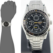 Casio MTP4500D-1A Mens Stainless Steel Dress Watch 50M 1-Sec Chronometer New