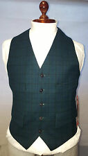Mens Mears Green Tweed Derby Pure new wool Wasitcoat Size 38