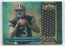 2012 Triple Threads Brandon Weeden JERSEY RELIC RC 10/75 BROWNS