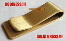 Golden Collectable Vintage bodiness Solid Brass money paper clip Z018