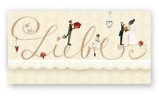 Geldgeschenkkarte LIEBE | Glückwunschkarte Hochzeit