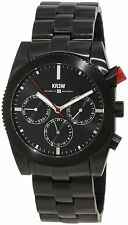 KR3W Mens K1342BLK Stainless Steel Redrum Black Automatic Wrist Watch New in Box