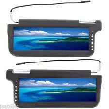 "2016 BLACK PAIR 12.2"" CAR SUNVISOR VISOR SCREEN HIGH DEFINITION LCD MONITORS 12"