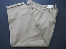 MENS PANTS ROUNDTREE & YORKE GOLD LABEL KHAKI SIZE 38X32 PRIMA COTTON NWTAGS