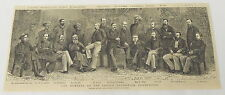 1884 magazine engraving ~ Members of INDIAN EDUCATION COMMISSION Mr. Hunter