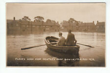 Men In Rowing Boat Floods From Bentley Road Doncaster May 1932 Real Photograph