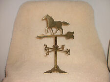 VINTAGE SOLID BRASS HORSE WEATHER VANE MADE IN INDIA