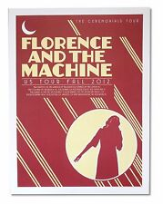 Florence and the Machine US Fall 2012 Tour Litho Poster New Official Merch