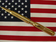 BULLET PEN 30-06 CAL.  BRASS  RIFLE CASING BALL POINT INK PEN USES CROSS REFILL